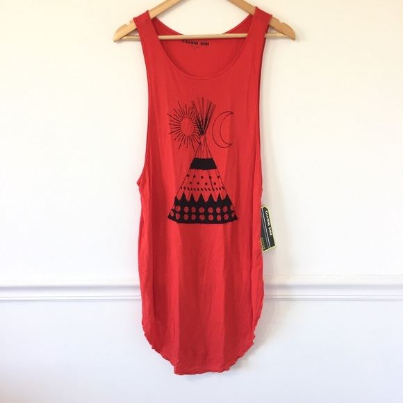 Gianni Bini Tops - Gianni Bini Native Indian Camp Tent Tank Top
